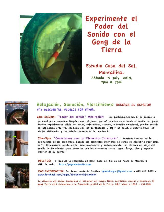 Gong Flyer Spanish