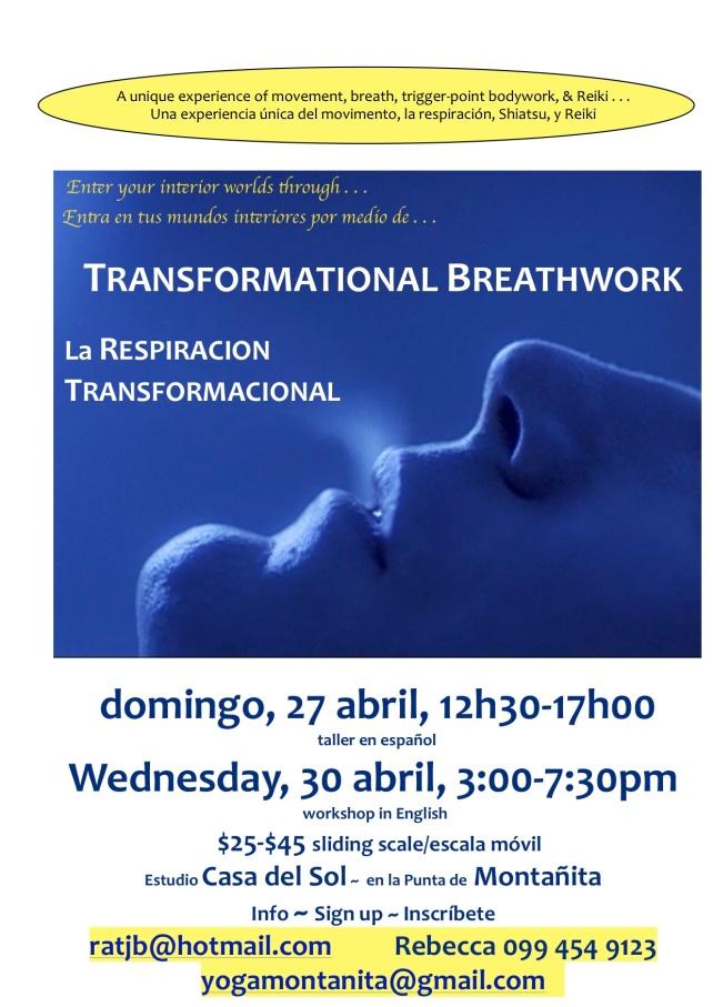 poster blue breath Montañita