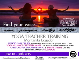 casadelsol - yoga teacher training - ecuador - yoga - beach
